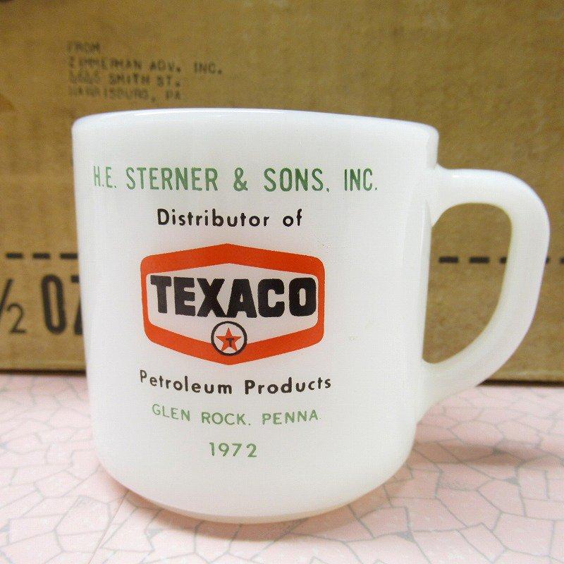 デッドストック・未使用・フェデラルグラス・テキサコ・TEXACOマグ・1972年【A】