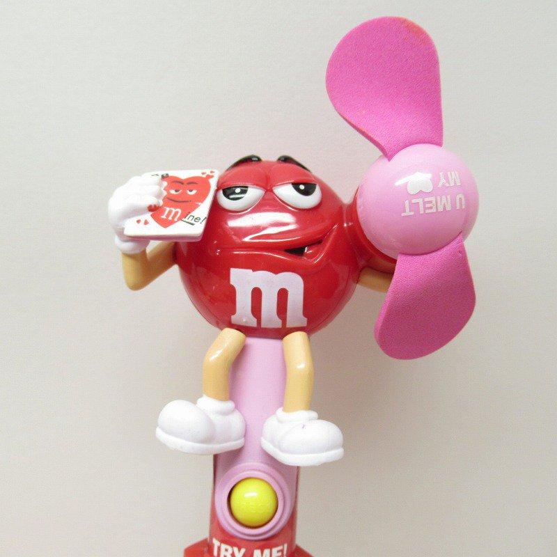 エムアンドエムズ M&Ms ハンディ 扇風機 レッド バレンタイン 2007年