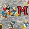 ファブリック  ヴィンテージはぎれ ミッキー ディズニー フィフティーズ プリント ファブリック