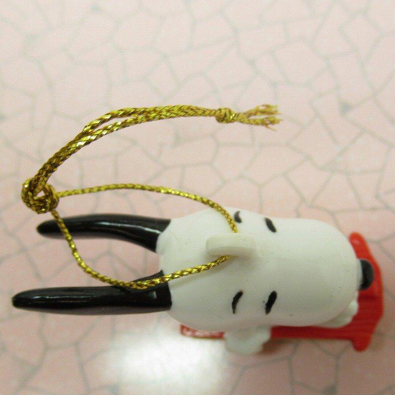 スヌーピー PVC ホイットマンズ クリスマス オーナメント 緑のマフラーとそり【画像6】