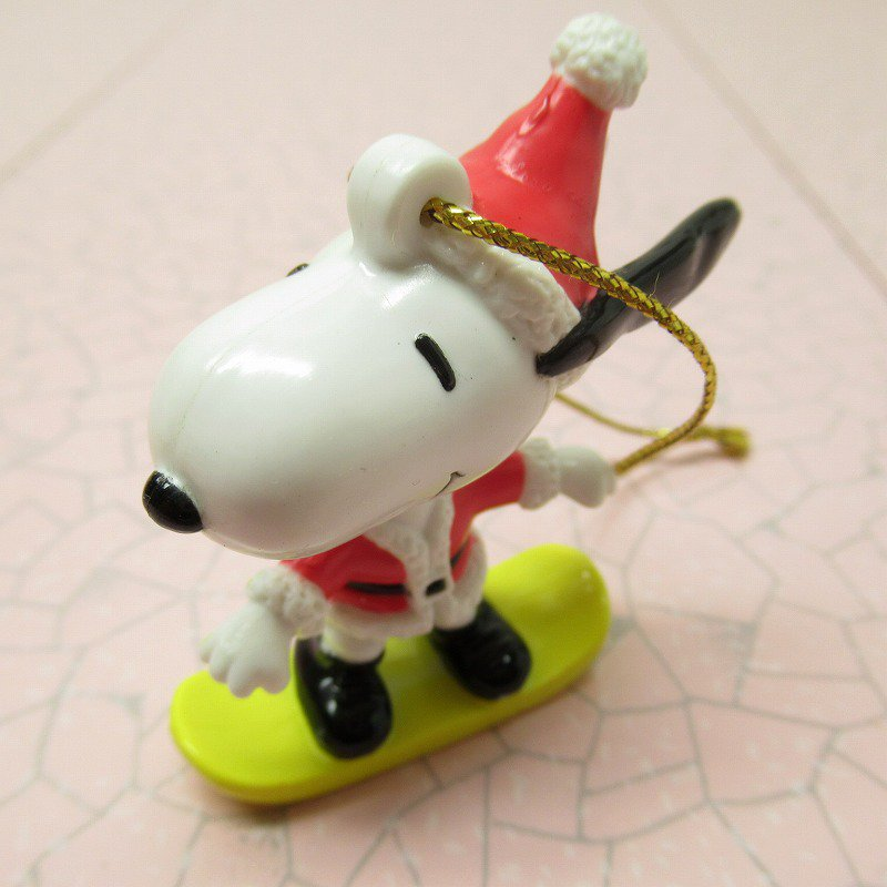 スヌーピー PVC ホイットマンズ クリスマス オーナメント スケボーとサンタ