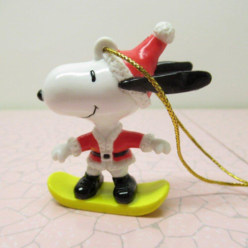 スヌーピー PVC ホイットマンズ クリスマス オーナメント スケボーとサンタ【画像2】