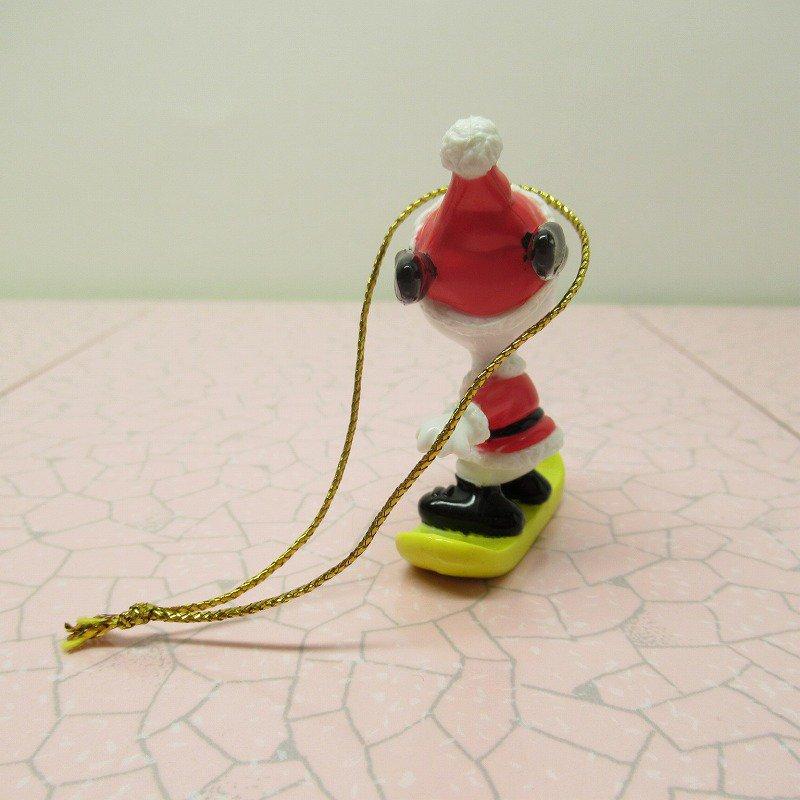 スヌーピー PVC ホイットマンズ クリスマス オーナメント スケボーとサンタ【画像5】