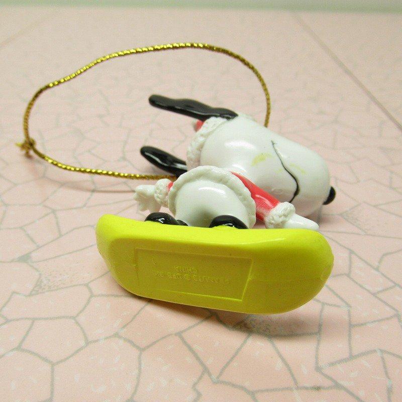スヌーピー PVC ホイットマンズ クリスマス オーナメント スケボーとサンタ【画像7】
