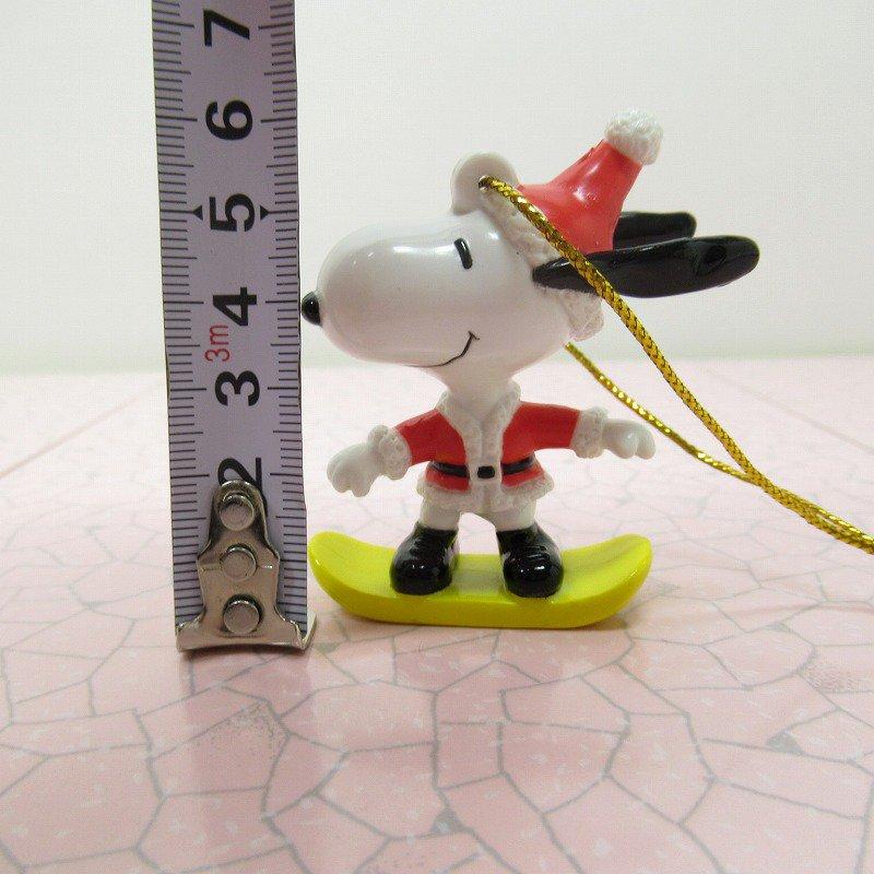 スヌーピー PVC ホイットマンズ クリスマス オーナメント スケボーとサンタ【画像8】