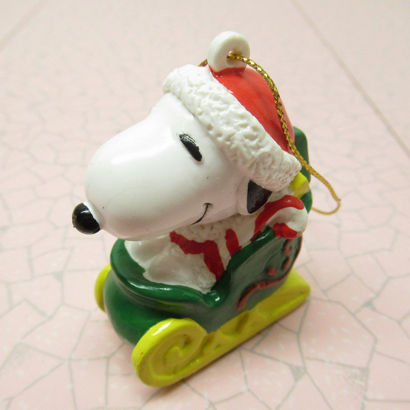 スヌーピー PVC ホイットマンズ クリスマス オーナメント サンタとプレゼント