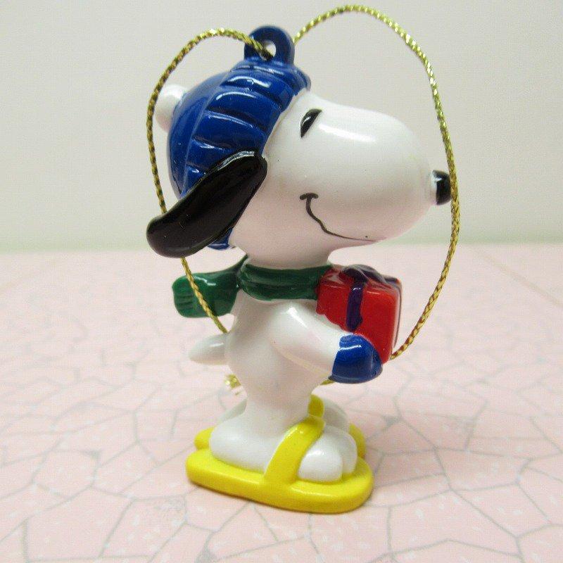 スヌーピー PVC ホイットマンズ クリスマス オーナメント 赤いプレゼントボックス【画像4】