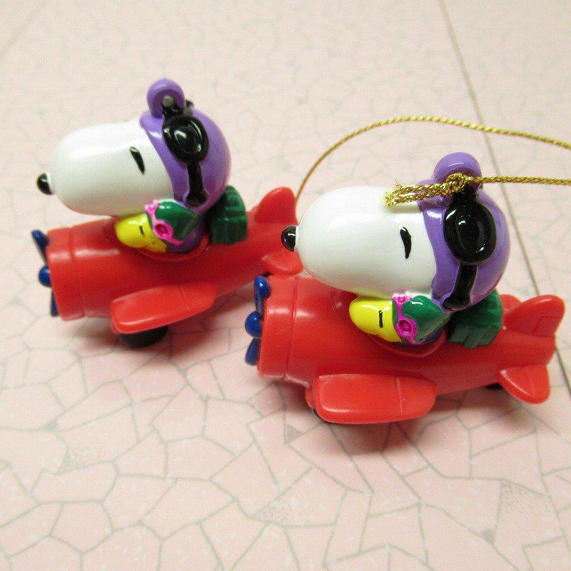 スヌーピー PVC ホイットマンズ クリスマス オーナメント レッドバロン