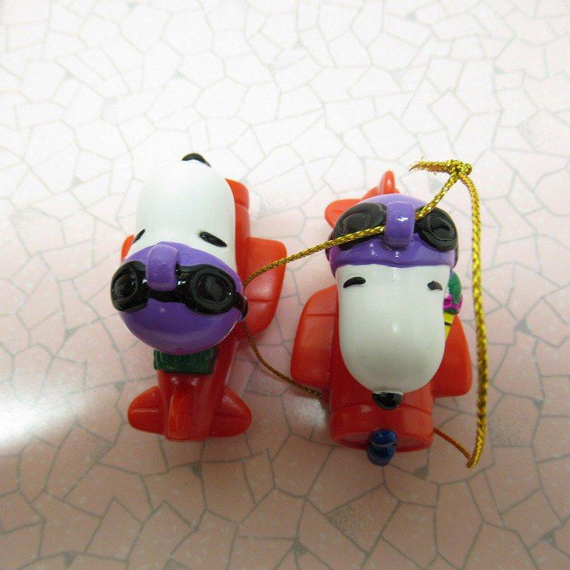 スヌーピー PVC ホイットマンズ クリスマス オーナメント レッドバロン【画像7】