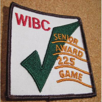 デッドストック・WIBC SENIOR AWARD 225 GAME・ビンテージワッペン【画像2】