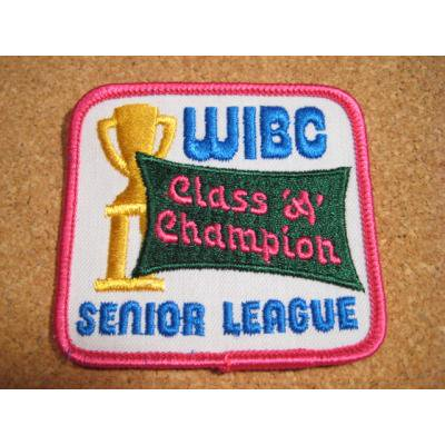 デッドストック・WIBC CLASS A CHAMPION・ビンテージワッペン【画像2】