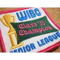 アドバタイジング・組織系 デッドストック・WIBC CLASS B CHAMPION・ビンテージワッペン