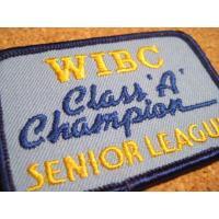 アドバタイジング・組織系 デッドストック・WIBC CLASS A CHAMPION・ブルー・ビンテージワッペン
