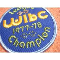 アドバタイジング・組織系 デッドストック・WIBC 1977-1978 CHAMPION・ビンテージワッペン