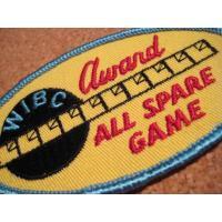 アドバタイジング・組織系 デッドストック・WIBC ALL SPARE GAME AWARD・ビンテージワッペン