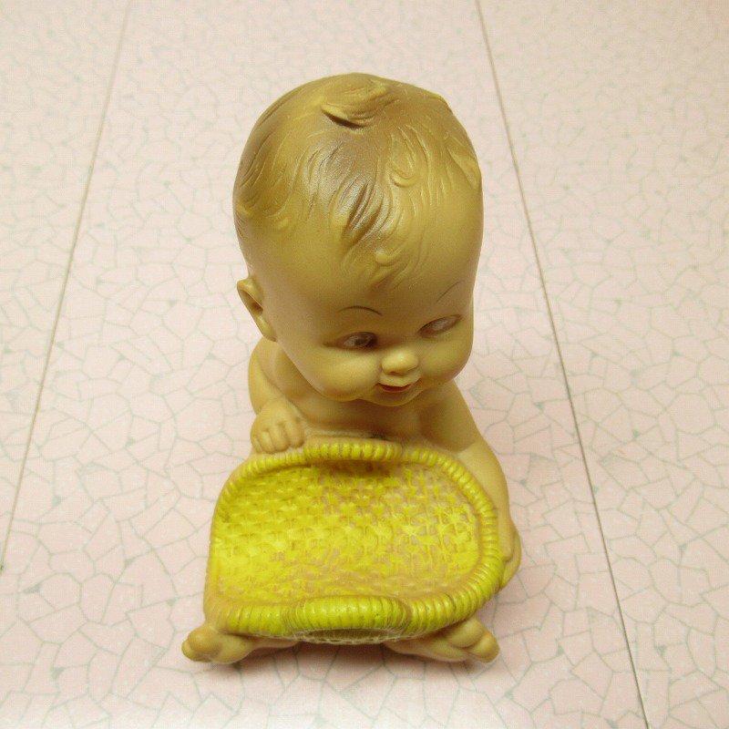ラバードール ヴィンテージ 1956年 赤ちゃん と バスケット【画像7】