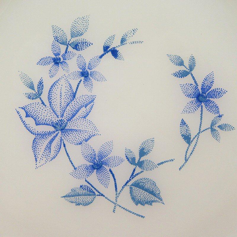 ターモクリサ ブルーフラワー サラダプレート D【画像2】