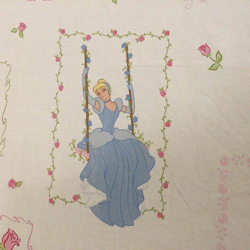 ヴィンテージシーツ ディズニー プリンセス ブランコ フラット