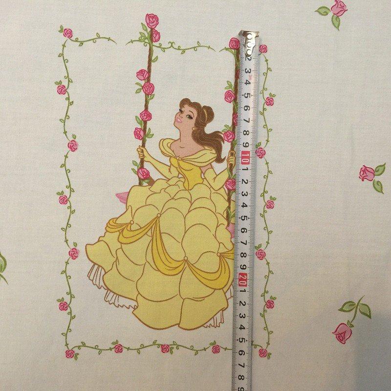 ヴィンテージシーツ ディズニー プリンセス ブランコ フラット【画像9】
