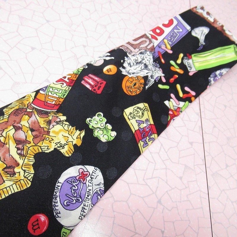 エムアンドエムズ M&M's &スイーツ シルク製 ネクタイ ニコルミラー【画像3】