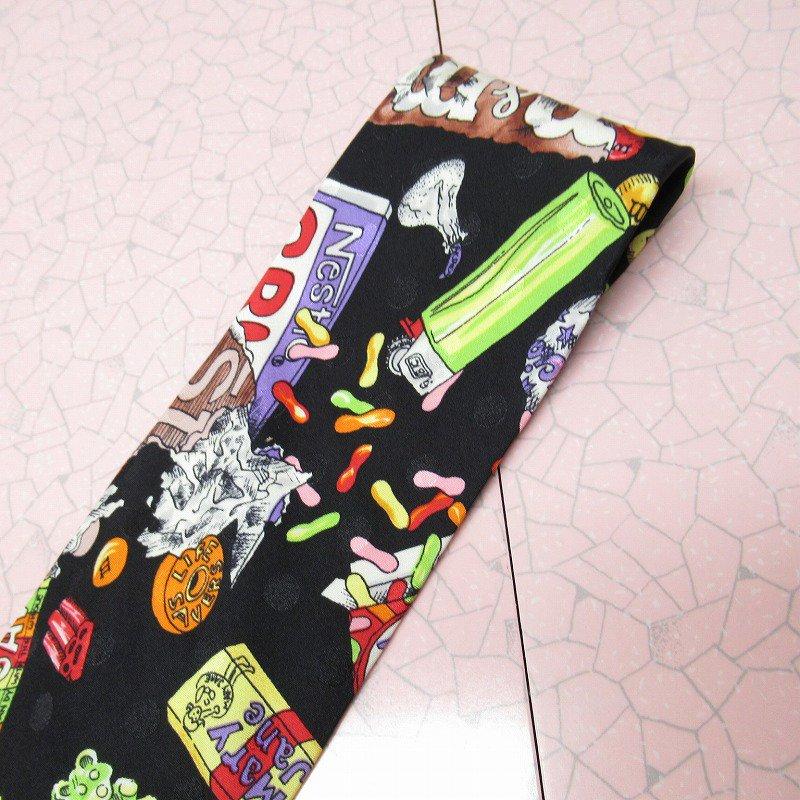 エムアンドエムズ M&M's &スイーツ シルク製 ネクタイ ニコルミラー【画像4】