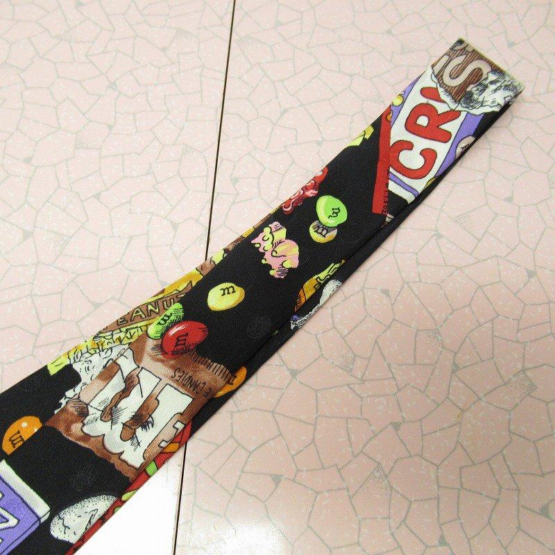 エムアンドエムズ M&M's &スイーツ シルク製 ネクタイ ニコルミラー【画像6】