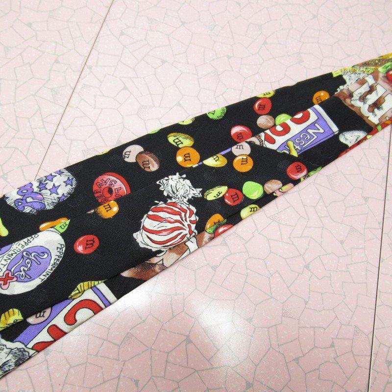 エムアンドエムズ M&M's &スイーツ シルク製 ネクタイ ニコルミラー【画像7】