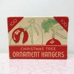 ヴィンテージ雑貨  クリスマス ヴィンテージパッケージ オーナメントフック用 箱 A
