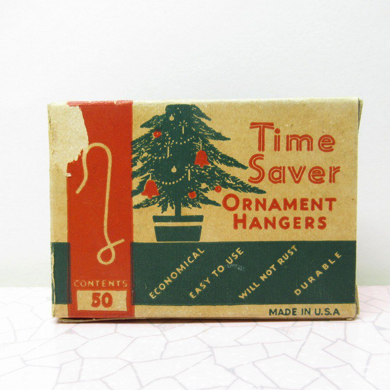 クリスマス ヴィンテージパッケージ オーナメントフック用 箱 B