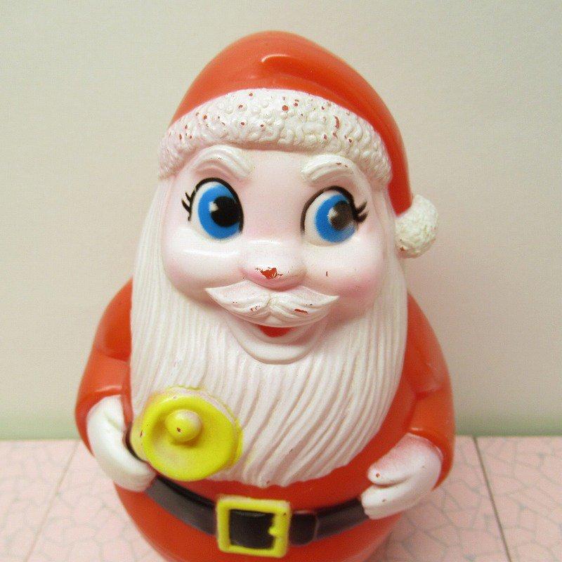 クリスマス デコレーション ヴィンテージ サンタ 起き上がりこぼし 1971年 A【画像2】