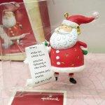 クリスマスオーナメント リストを読む サンタ ホールマーク 箱付き 2004年