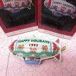 クリスマスオーナメント ブリキ製気球 ホールマーク 箱付き 1993年