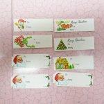 クリスマス用 紙タグ 8枚セット