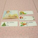 クリスマス用 紙タグ 5枚セット 羊飼い
