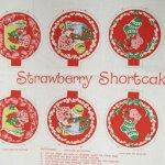 キャラクター  ストロベリーショートケーキ クリスマス オーナメント8個用 生地