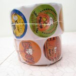 日本未販売 ハロウィン スヌーピー シール 6種 100枚 ロール 未使用