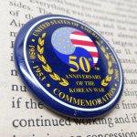 その他  ヴィンテージ缶バッジ Korean War 50周年記念