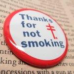 その他  ヴィンテージ缶バッジ Thanks for not smoking