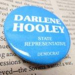選挙  ヴィンテージ缶バッジ Darlene Hooley 選挙