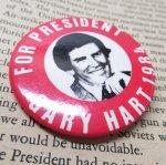 ファッション  ヴィンテージ缶バッジ Gary Hart 1984年 大統領選挙