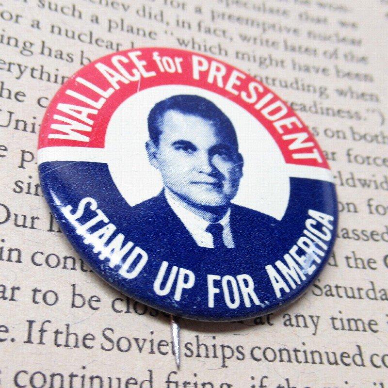 ヴィンテージ缶バッジ George Wallace 大統領選挙