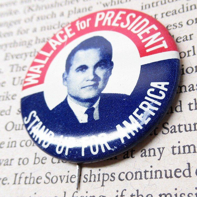 ヴィンテージ缶バッジ George Wallace 大統領選挙【画像2】