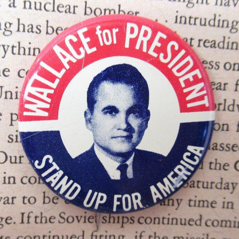ヴィンテージ缶バッジ George Wallace 大統領選挙【画像3】
