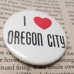その他  ヴィンテージ缶バッジ I Love Oregon City
