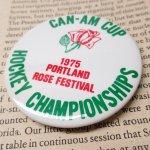 その他  ヴィンテージ缶バッジ 1975年 ポートランド ローズフェスティバル & ホッケー