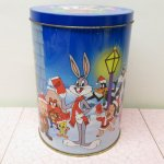 キャラクター  ルーニーチューンズ 1990年 イギリス製 クリスマス ティン缶