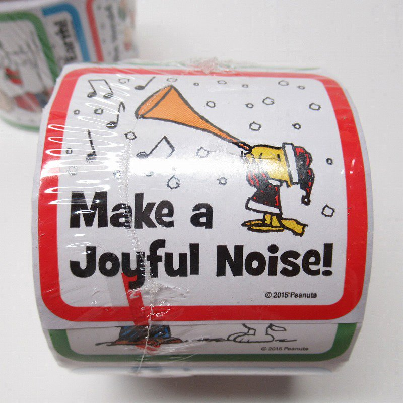 スヌーピー 日本未販売 クリスマス シール スクエア 5種 100枚セット  未使用【画像2】