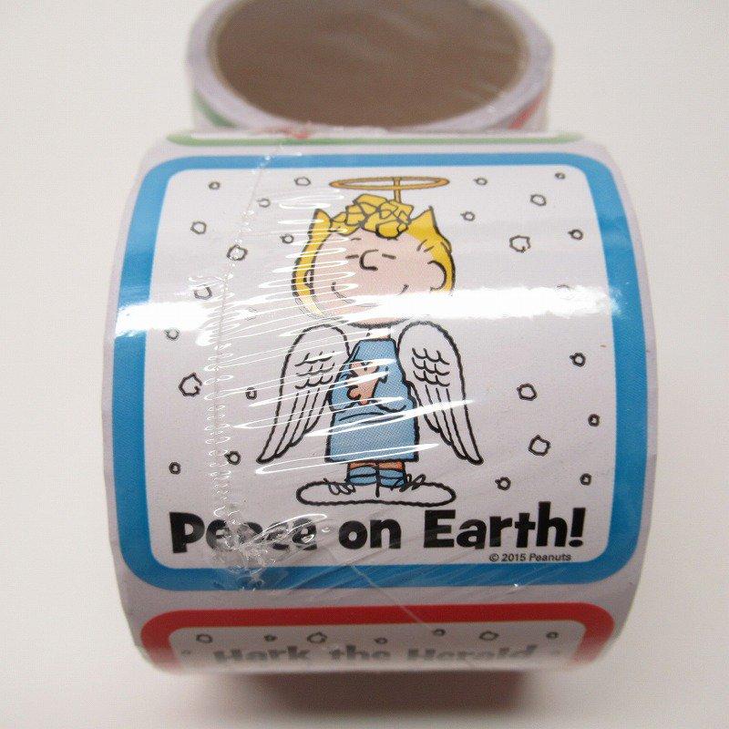 スヌーピー 日本未販売 クリスマス シール スクエア 5種 100枚セット  未使用【画像5】