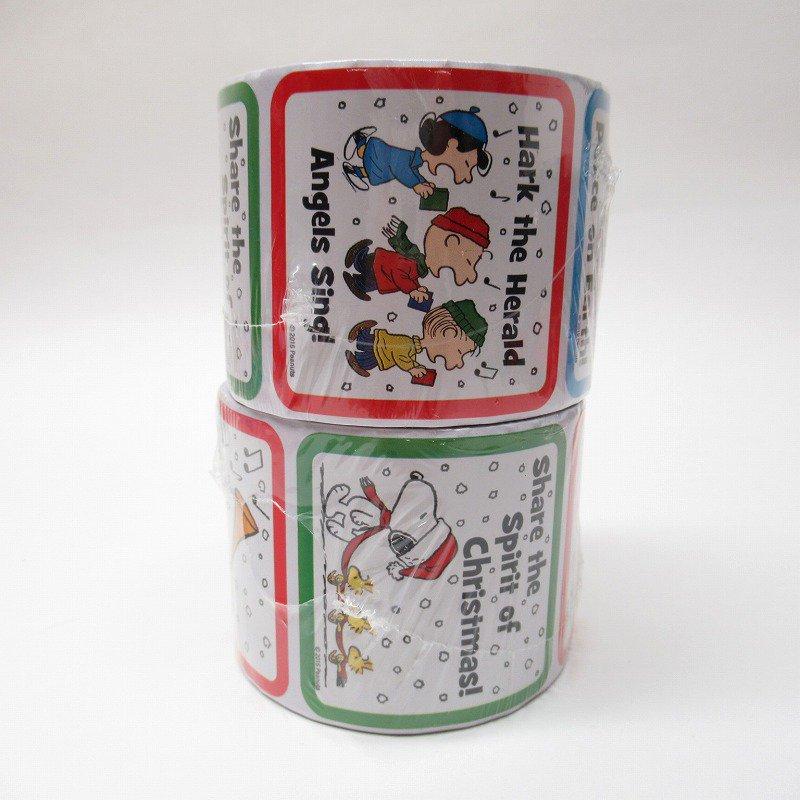 スヌーピー 日本未販売 クリスマス シール スクエア 5種 100枚セット  未使用【画像6】