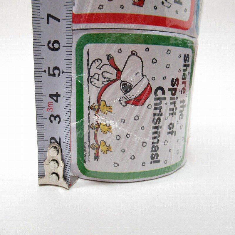 スヌーピー 日本未販売 クリスマス シール スクエア 5種 100枚セット  未使用【画像7】